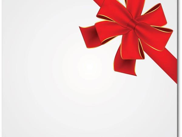 Christmas Ribbon Vector Art Free