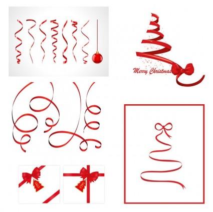 Christmas Ribbon Vector Free