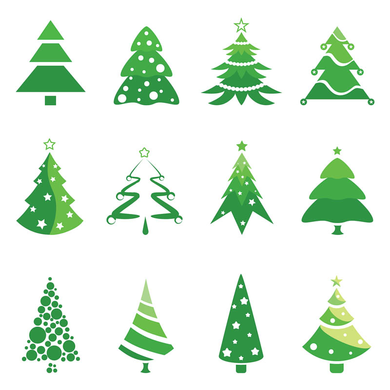 Christmas Tree Clip Art Logo