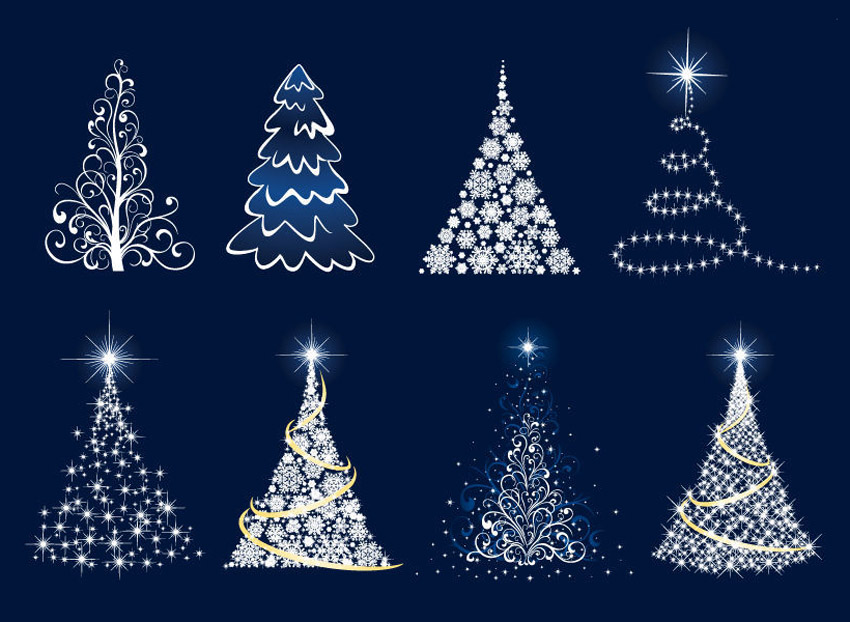 Christmas Trees Free Vector Graphics