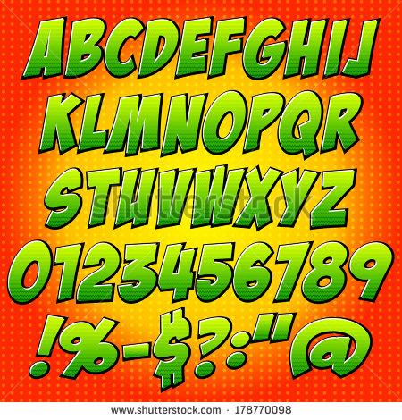 Comic Book Letter Alphabet Font