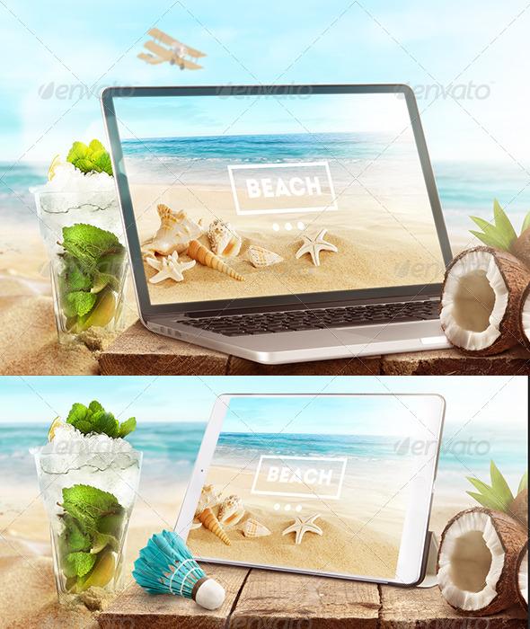 10 Tablet Mockup PSD Images