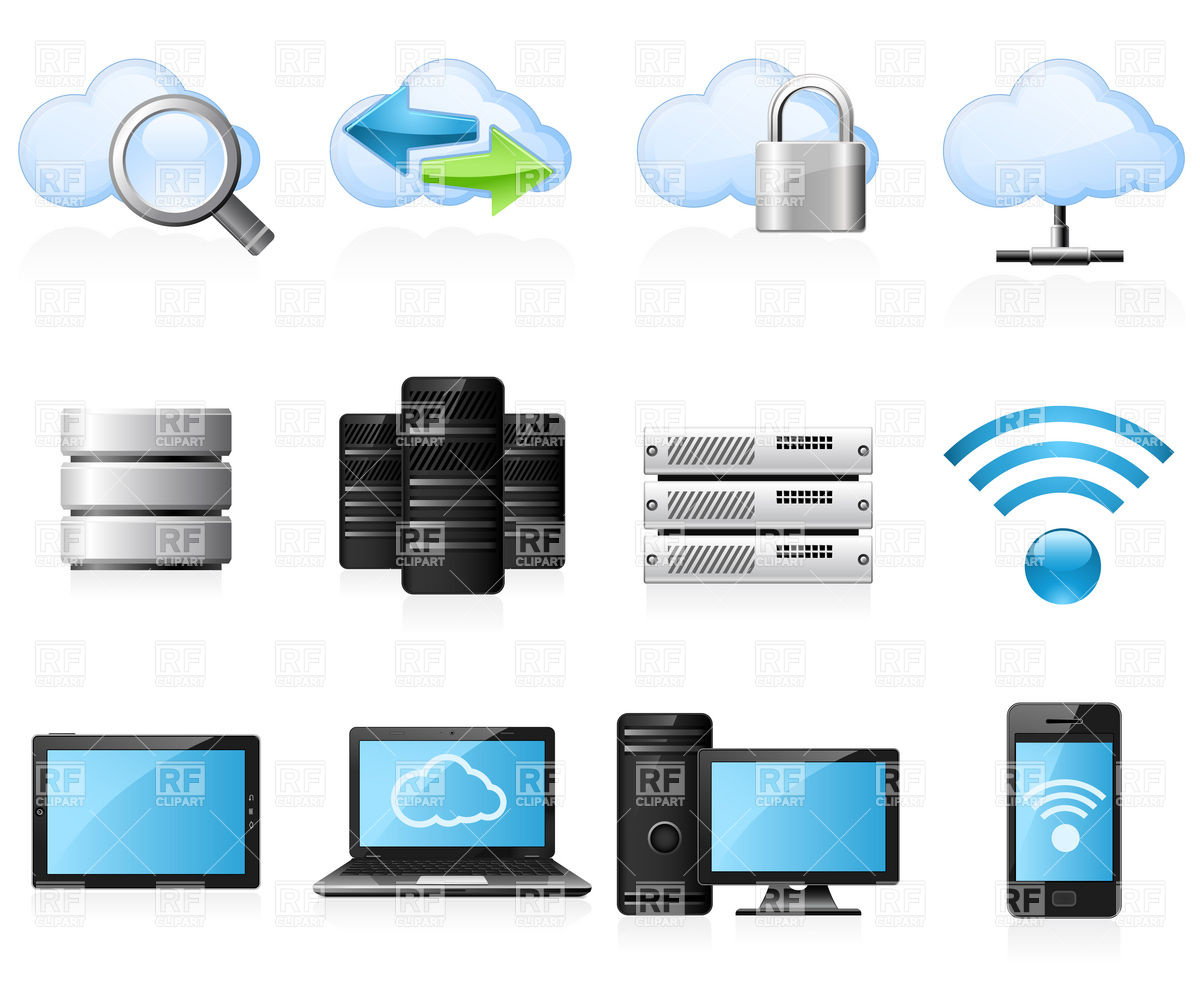 12 Network Icons Vector Images