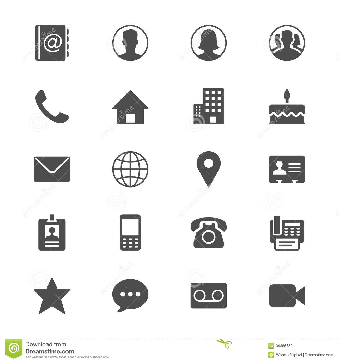 15 Contact Icon Flat Images - Flat Email Icon, Contact ...