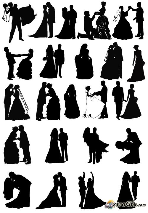 13 Wedding Silhouette Vector Images