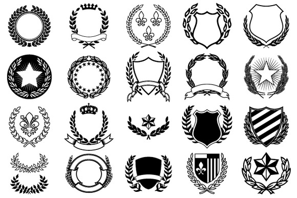 ... Free Vector Shapes and Decorative Coat of Arms / Newdesignfile.com
