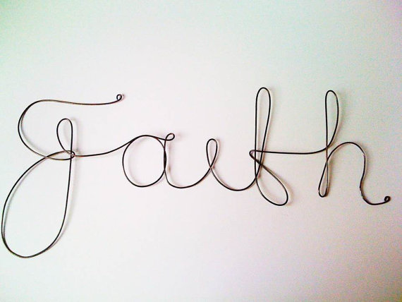 Cursive Font Word Faith