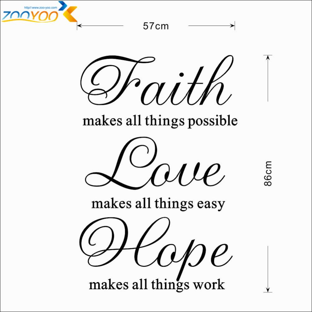 Cursive Word Faith Hope Love Wallpaper