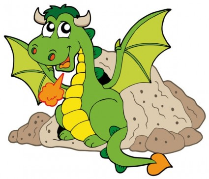 10 Cute Cartoon Dragon Vector Images