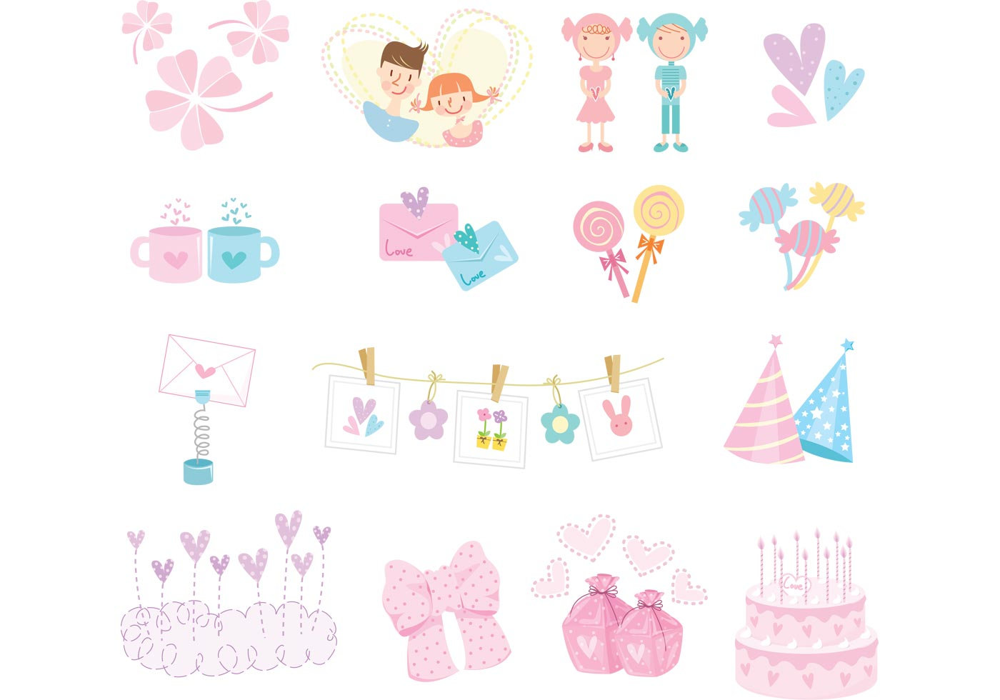 17 Girly Vector Graphi...