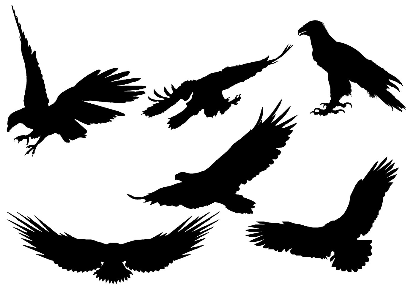 Eagle Silhouette Vector Free