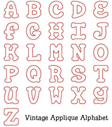 Embroidery Applique Alphabet Letters