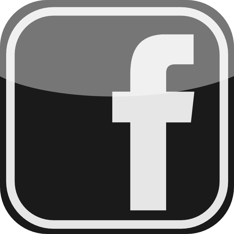 Facebook Icon Black and White
