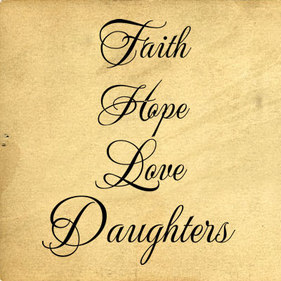 Faith Hope Love Cursive