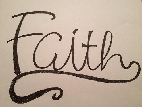 Faith Written in Cursive Writing