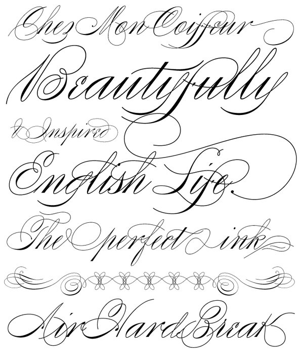 Fancy Cursive Tattoo Fonts