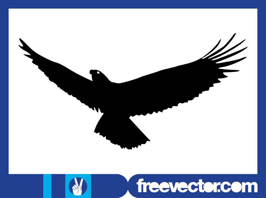 13 Eagle Silhouette Vector Images