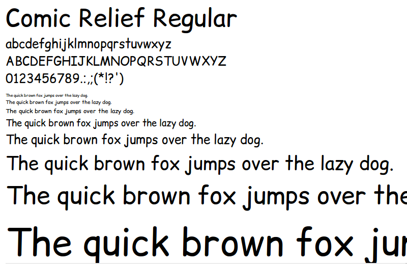 Font Comic Relief