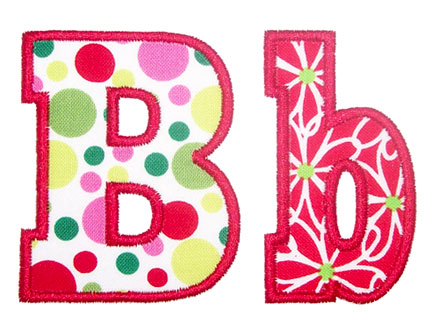 Free Applique Alphabet Letters
