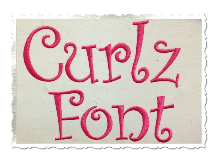Free Curlz Embroidery Monogram Fonts