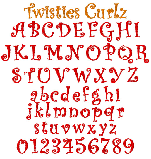 Free Embroidery Font Downloads