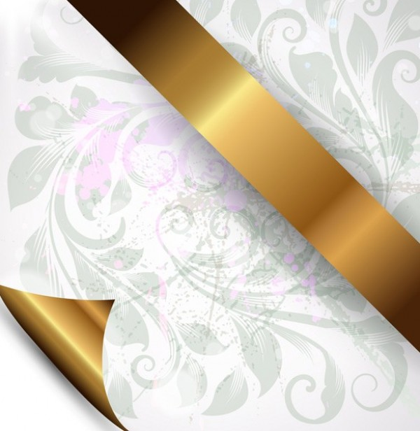 15 Gold Ribbon PSD Images