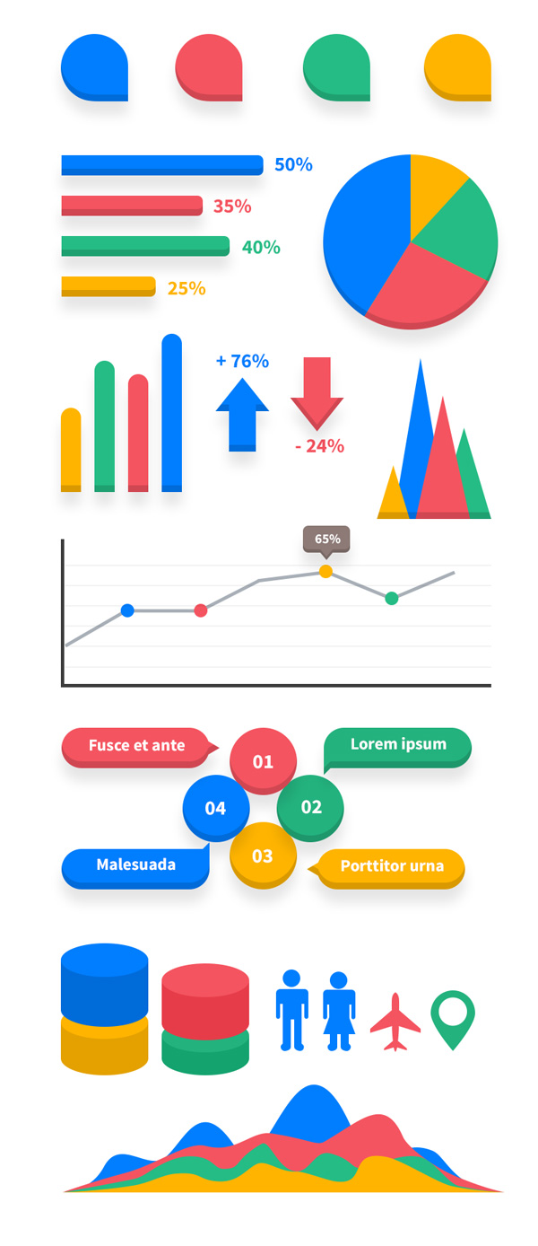 11 Free Infographic Elements PSD Images