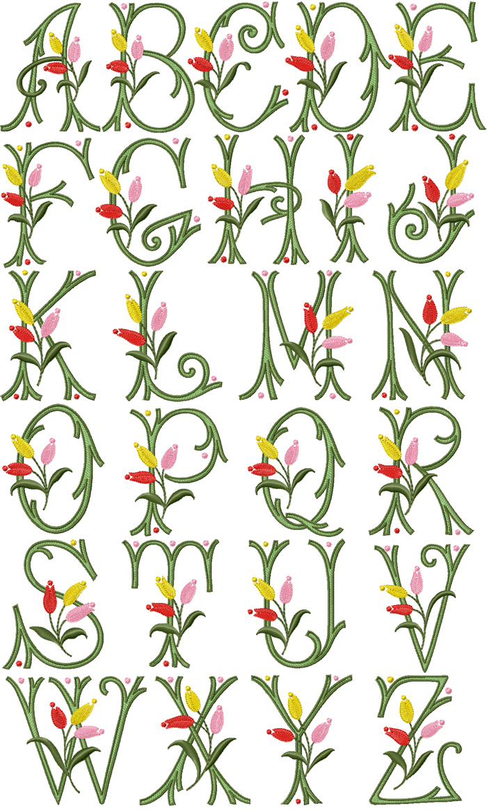 Free Machine Embroidery Alphabet Designs