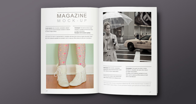 15 Magazine Spread Mockup PSD Images
