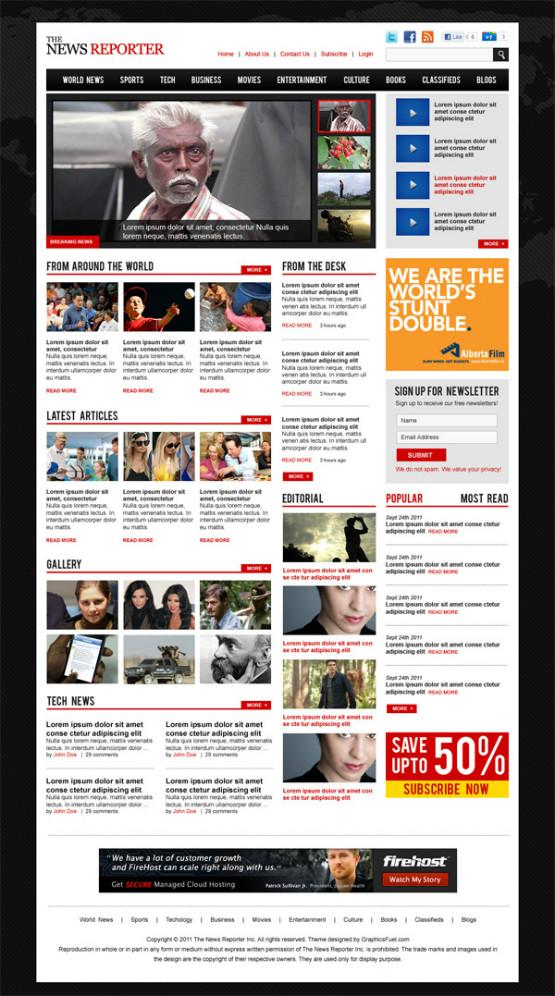 Free Magazine PSD Template