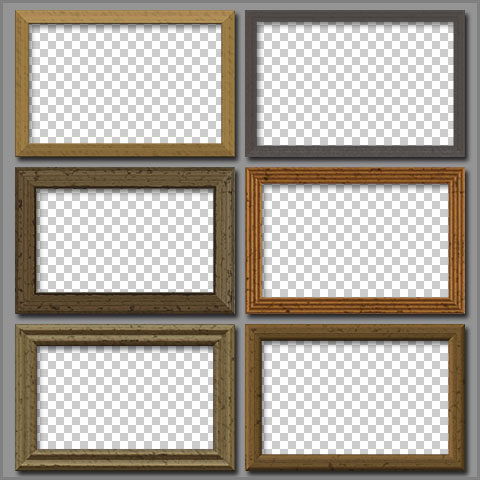 Free Photoshop Elements Frames Wooden