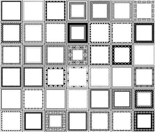 Free Photoshop Shapes Frames