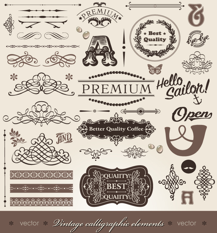 Free Vintage Vector Logo Elements