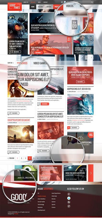 Free Website Templates Magazine