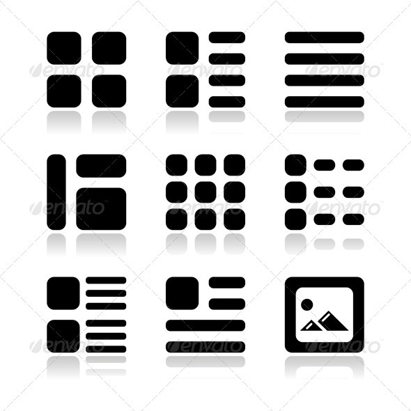 8 List View Icon Images