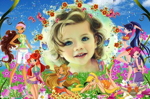Girl Baby Frame Photoshop