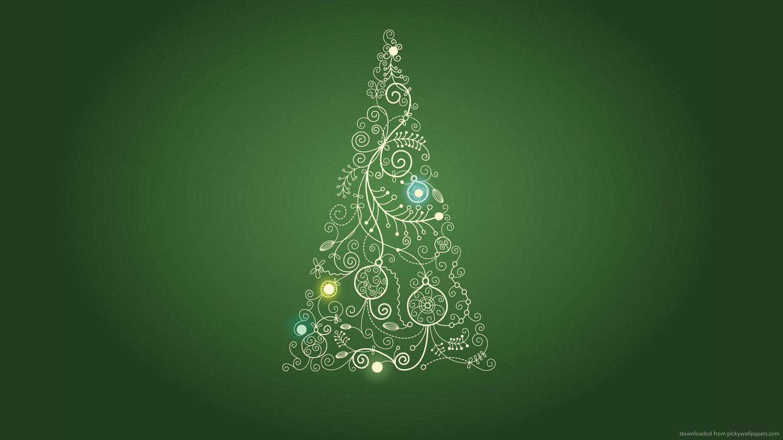 Green Christmas Tree Art