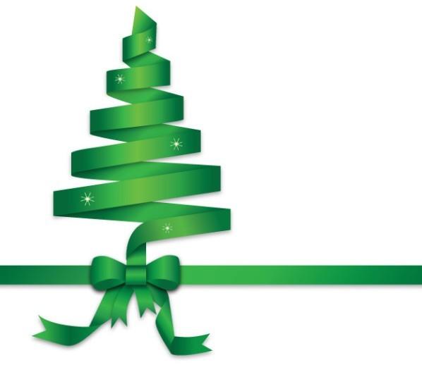 Green Ribbon Christmas Tree