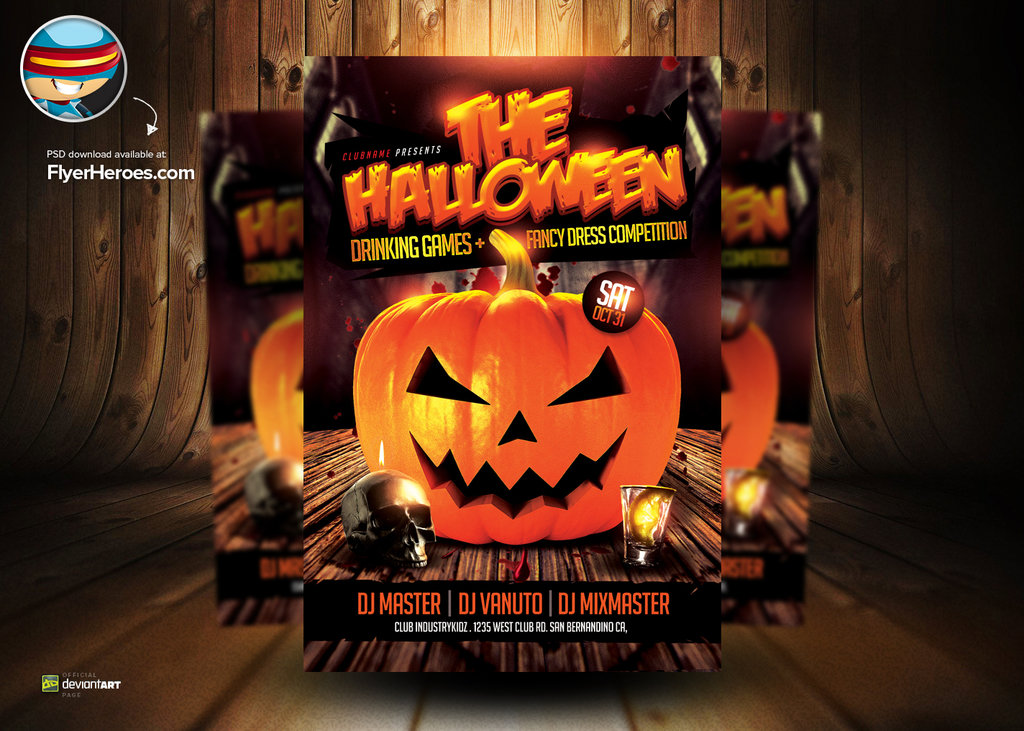 18 Halloween Psd Templates Images Halloween Flyer Templates