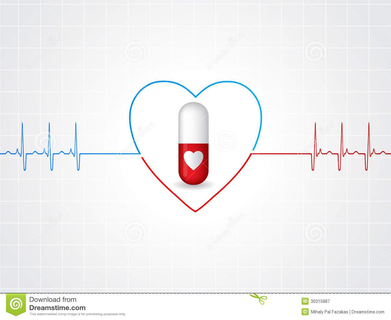Heart with EKG Design