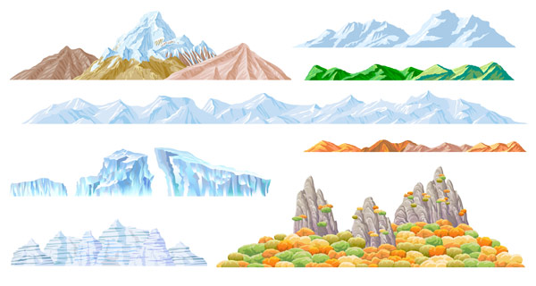 16 Mountain Vector Graphic Images