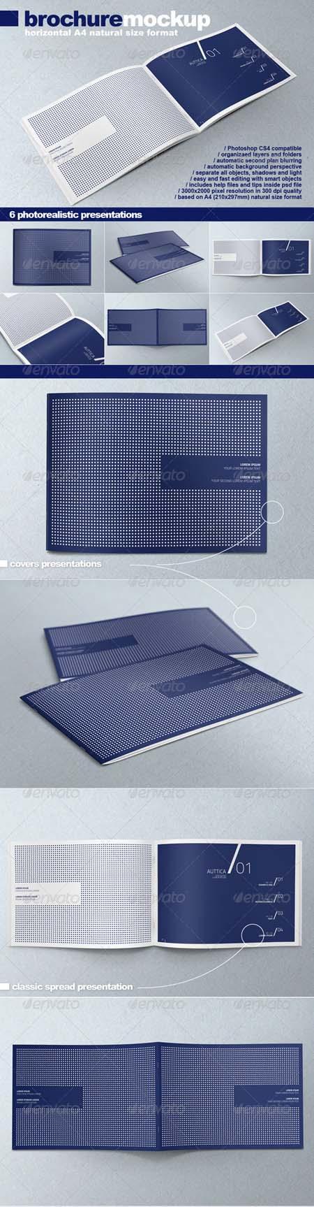 14 tabloid horizontal brochure mockups psd images tri for Horizontal brochure template