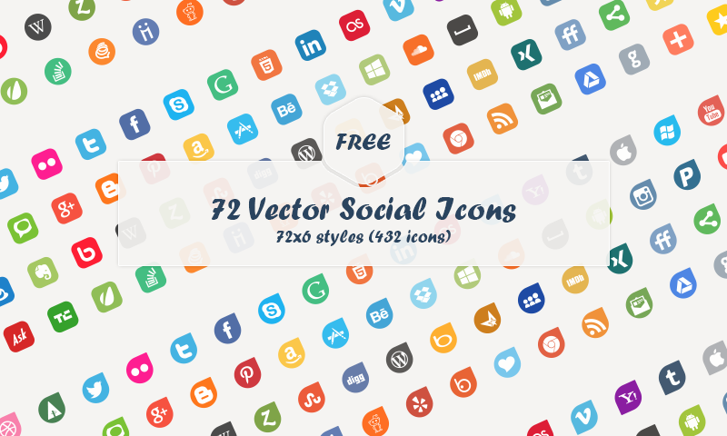 Instagram Social Media Icons Vector Free
