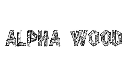 16 Wood Board Font Images