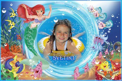 Little Mermaid Photoshop Frame