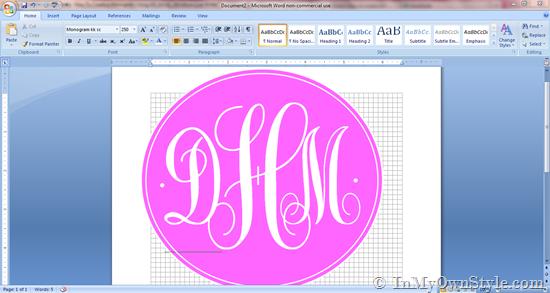 Make Your Own Printable Monogram