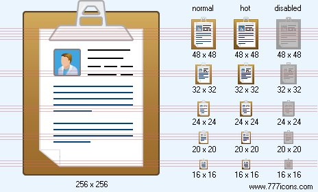 Medical Chart Notes Icon