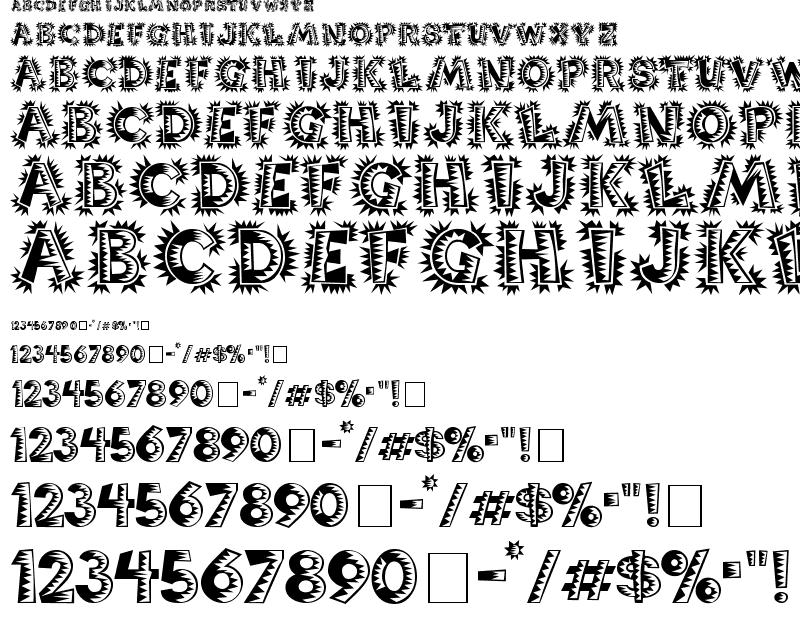 latin style font - photo #11