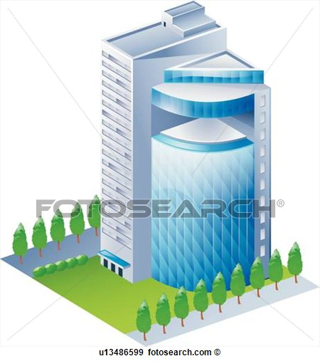 Modern Architecture Buildings Clip Art