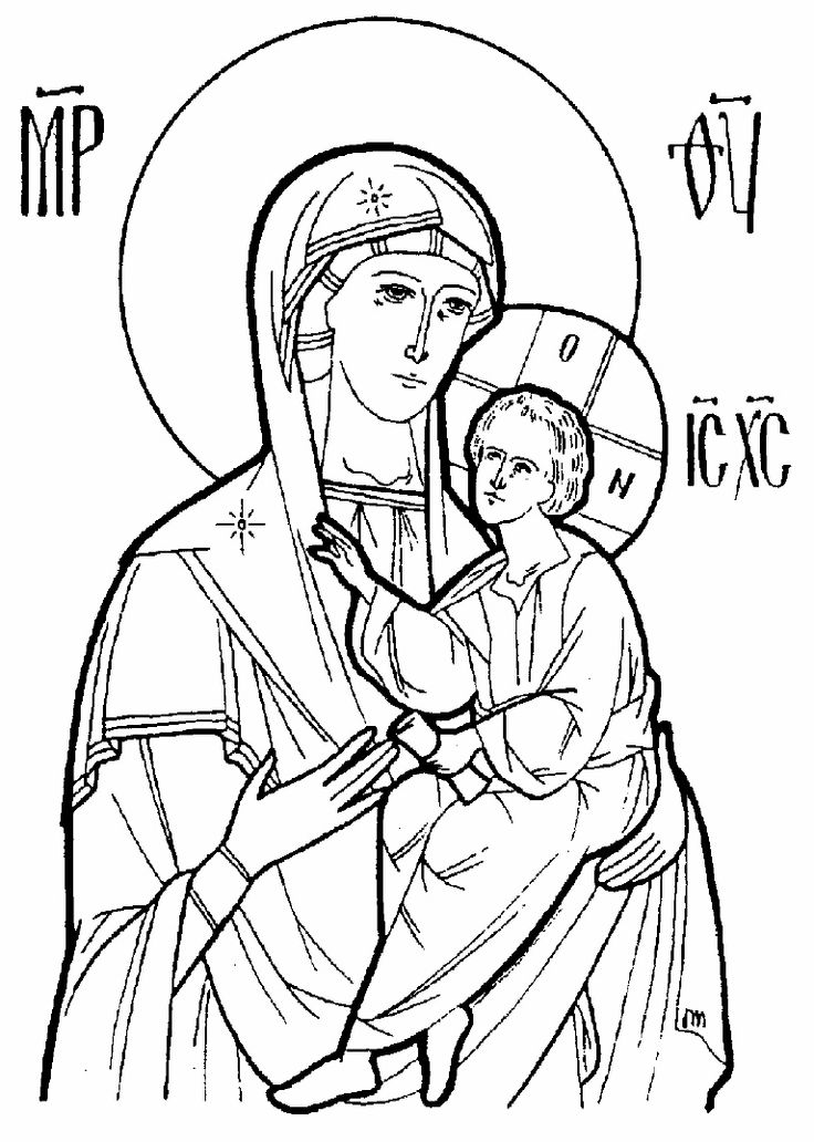 15 Byzantine Icons Religious Coloring Pages Images